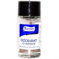 Dizolvant cu acetona pentru lac de unghii 50 ml, Farmec
