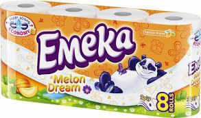 Hartie igienica Emeka, 3 straturi, 16 role, Melon Dream
