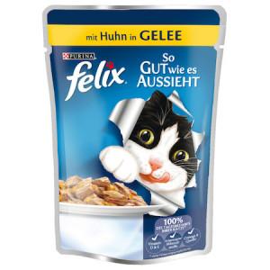 Hrana umeda pentru pisici, Felix Fantastic, Pui in aspic, 100g