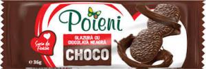 Poieni. Biscuiti cu glazura de cacao 33g