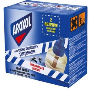 Rezerve lichid Aroxol impotriva tantarilor, 2 buc