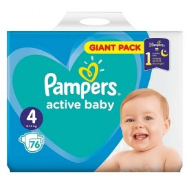 Scutece Nr. 4 Active Baby, 9-14kg, 76 buc, Pampers