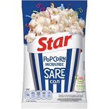 Star Popcorn pentru micorunde - sare - 80Gr