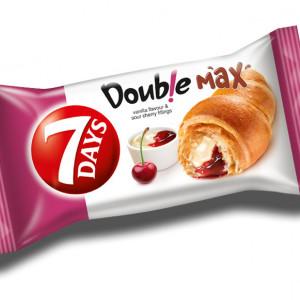 Croissant cu umplutura cu aroma de vanilie si visine Double 80g 7Days