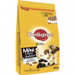 Hrana uscata pentru caini Pedigree Junior, talie mica, pui & orez, 400 g