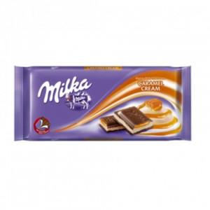 Milka Ciocolata Cu Crema Caramel 100G
