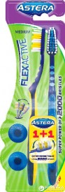 Periuta de dinti ASTERA Flex Active Medium 1+1
