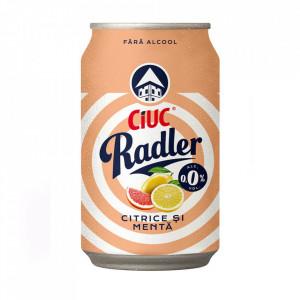 Radler citrice și mentă 0,0% - Ciuc - 0.33 l
