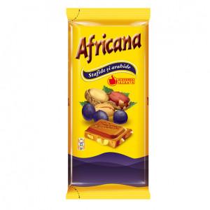 Ciocolata Africana cu arahide si stafide 90 g