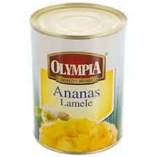 Compot de ananas cuburi 580ml Olympia