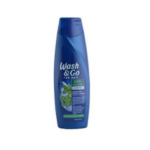 Sampon Wash&Go for men,Menthol fresh, 400 ml