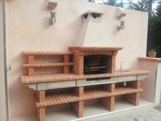 barbecue en brique avec evier av2500f. Black Bedroom Furniture Sets. Home Design Ideas