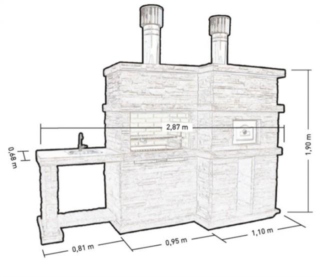 Barbecue en pierre et four a bois pour jardin pr4740f for Barbecue en pierre de taille
