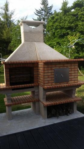 barbecue en brique r fractaire avec four av351f. Black Bedroom Furniture Sets. Home Design Ideas