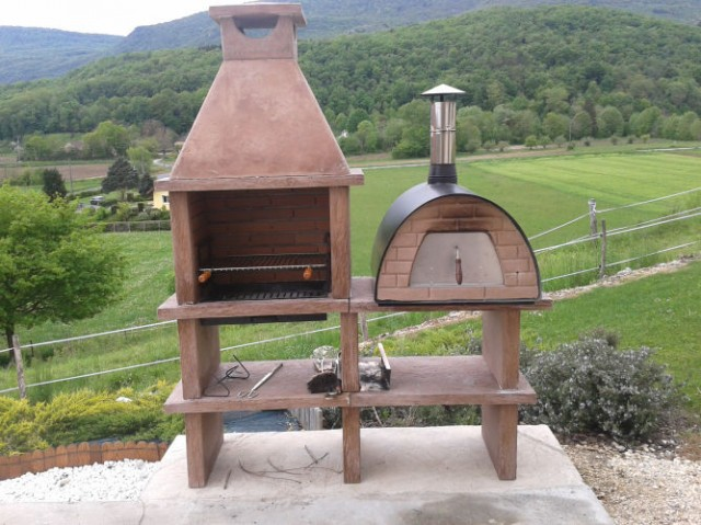barbecue en pierre et four maximus av140rf. Black Bedroom Furniture Sets. Home Design Ideas