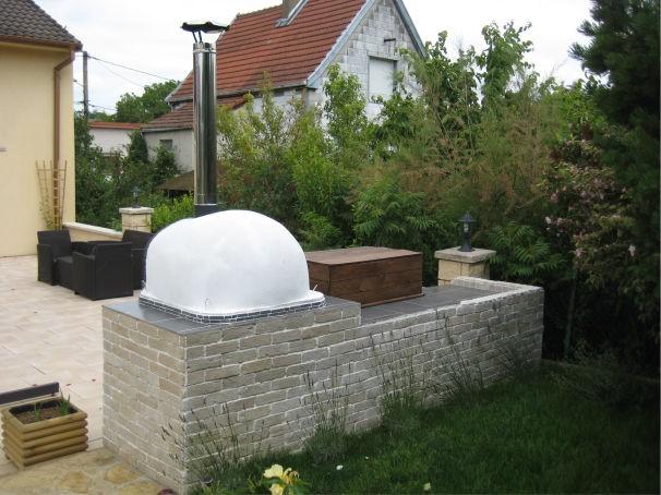 Four bois pour jardin brazza 100cm - Four a pizza de jardin ...
