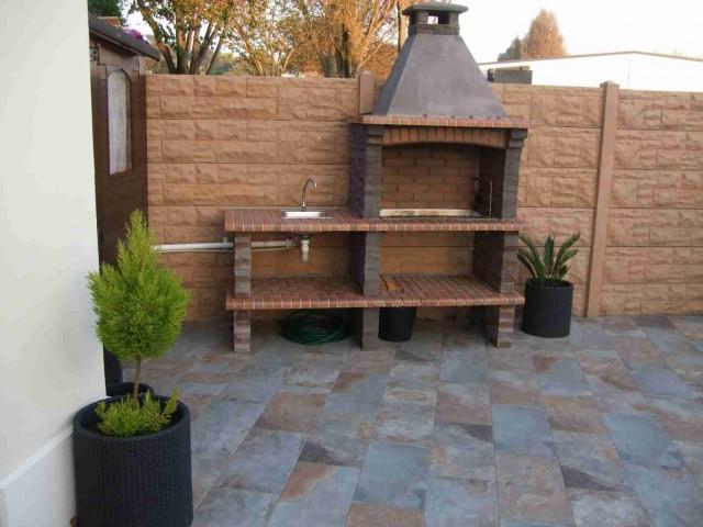 barbecue fixe en pierre reconstitu e pour jardin av370f. Black Bedroom Furniture Sets. Home Design Ideas