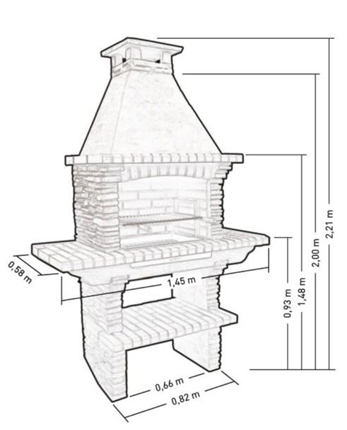 Barbecue vertical pierre reconstituer pr4020f - Medidas de barbacoas ...