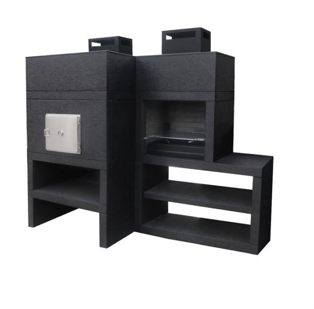 barbecue moderne avec four av85m. Black Bedroom Furniture Sets. Home Design Ideas