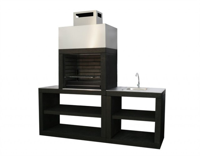 barbecue moderne exterieur avec vier av30m. Black Bedroom Furniture Sets. Home Design Ideas
