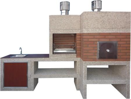 barbecue moderne avec four et evier av910f. Black Bedroom Furniture Sets. Home Design Ideas