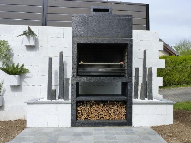 Bbq moderne sur. | Barbecue exterieur en
