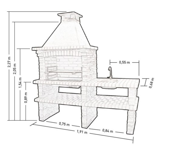 barbecue fixe en pierre pr4220f. Black Bedroom Furniture Sets. Home Design Ideas