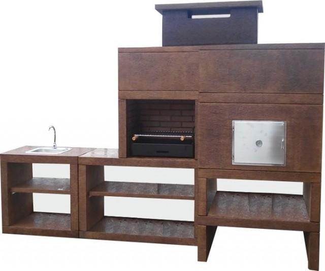 barbecue moderne avec four et evier av800m. Black Bedroom Furniture Sets. Home Design Ideas