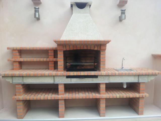 Barbecue en brique avec evier av2500f - Barbacoa obra ...