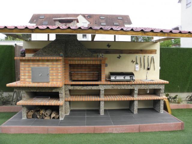four a pain et barbecue en brique avec vier av358f. Black Bedroom Furniture Sets. Home Design Ideas