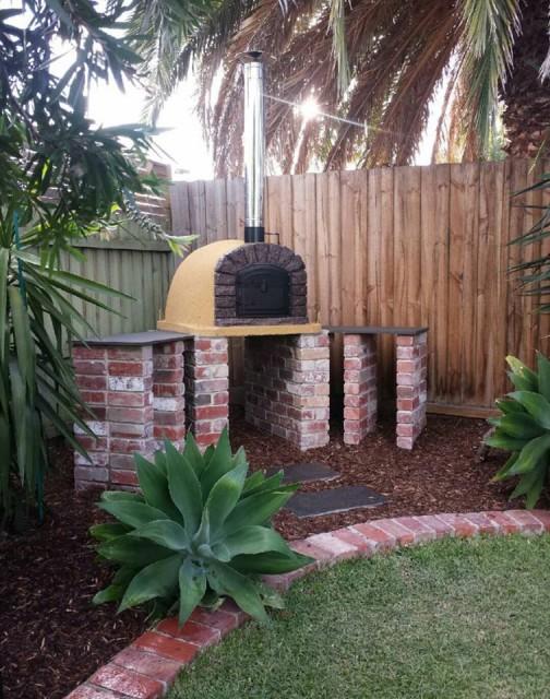 Four pizza et pain de jardin famosi 100cm - Four a pizza de jardin ...