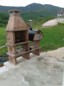 Barbecue en pierre et four MAXIMUS AV140RF