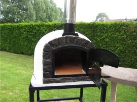 Four à pizza et bois FAMOSI 90 cm