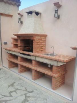 Barbecue en brique avec evier av2500f - Medidas barbacoa de obra ...