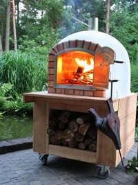 Four à pizza et pain de jardin - BRAGA 100cm