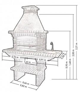 Barbecue en pierre Reconstituée PR4030F