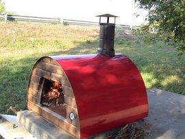 Four à bois Pizza- Maximus Rouge