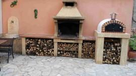 Supplément Porte en Acier Noir Four à bois PIZZAIOLI