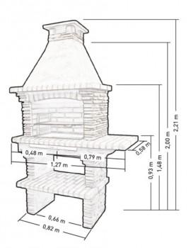 barbecue en pierre pr4010f. Black Bedroom Furniture Sets. Home Design Ideas