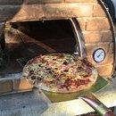 Four a Bois a Pizza MAXIMUS Avec Charriot (rouge)