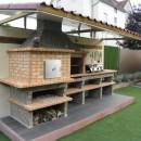 Four a Pain et Barbecue en Brique avec évier AV358F