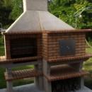 Barbecue en brique réfractaire avec four AV351F