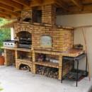 Barbecue Rustique avec Four et évier FR001F