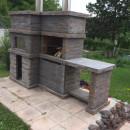 Barbecue en Pierre et Four a Bois pour jardin PR4740F