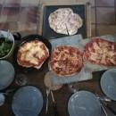 Four à Bois et Pizza MAXIMUS ARENA Rouge Avec Charriot Noir