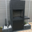 Barbecue contemporain pierre AV15M