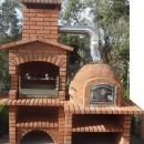 Barbecue Rustique avec four en Brique rouge FR0027F