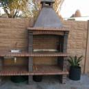 Barbecue fixe en pierre reconstituée pour jardin AV370F