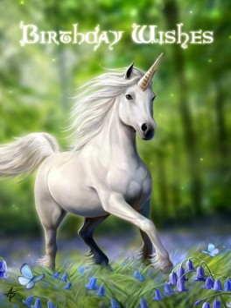 Felicitare Unicorn