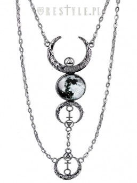 Colier Luna Plina - argintiu